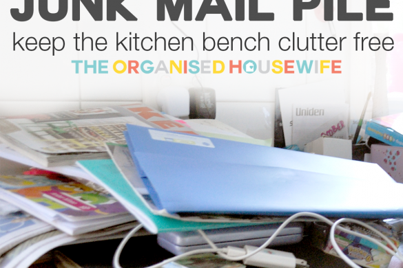 how to tame junk mail pile