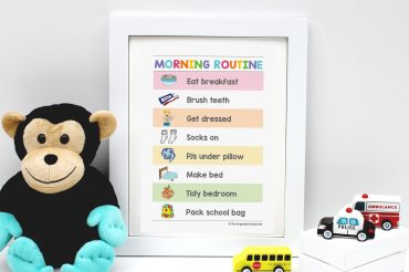 morning-routine-chart-in-frame