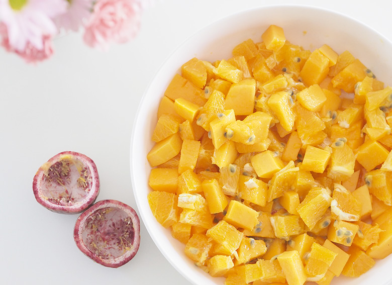 This Paw Paw Fruit salad is a fresh and healthy tropical salad.