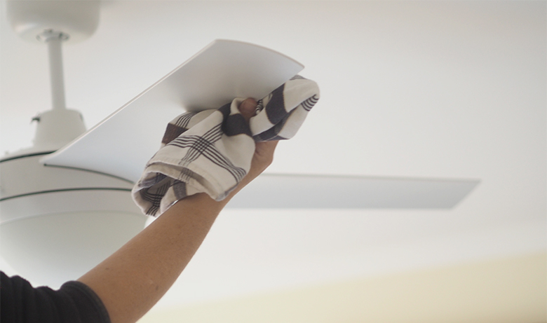 How To Clean A Ceiling Fan The Organised Housewife