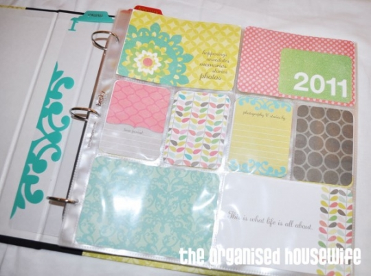 Project Life The Organised Housewife Ideas For