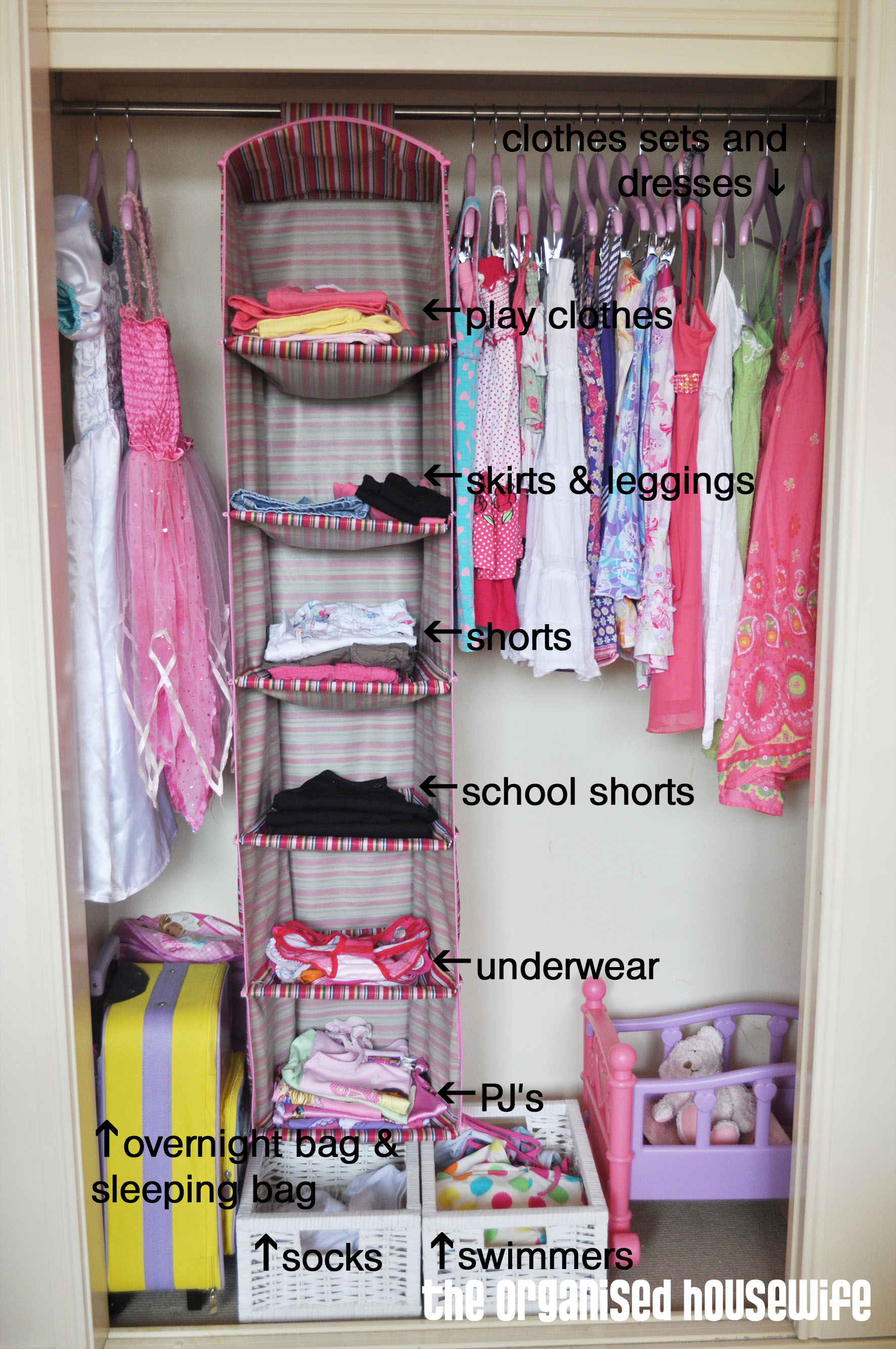 Back to school organising the kids wardrobe the for Kids room closet ideas
