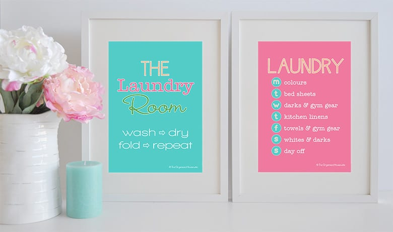 {The Organised Housewife} Laundry Wall Art & Schedule - Design 1