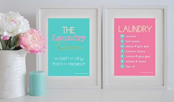 Laundry Wall Art & Schedule
