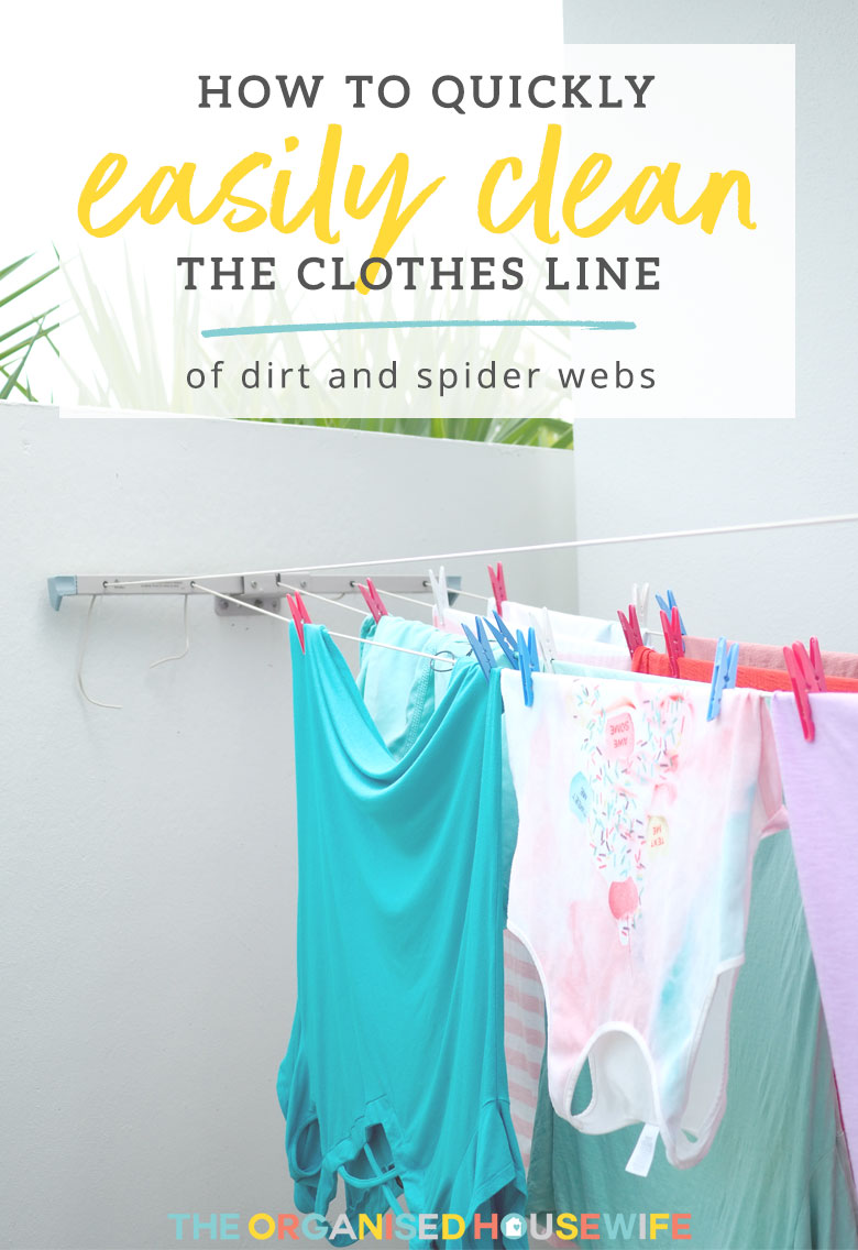 Does your washing line get grubby? Read my quick and easy guide to give your clothes line a clean to prevent the clean clothes picking it up.