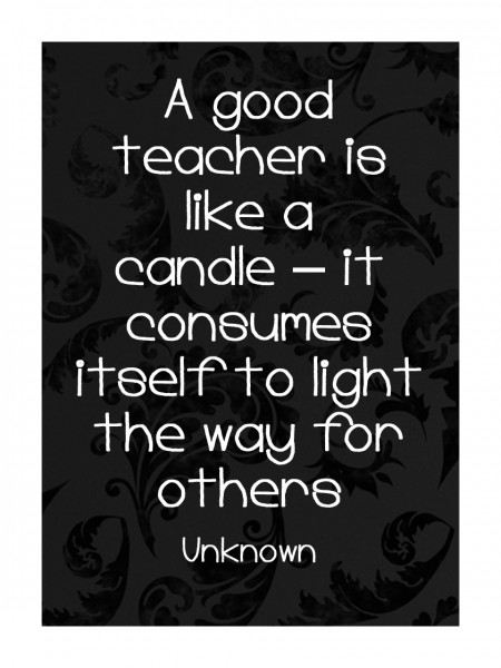Teacher Appreciation Gifts: Teacher quote in frame - The ...