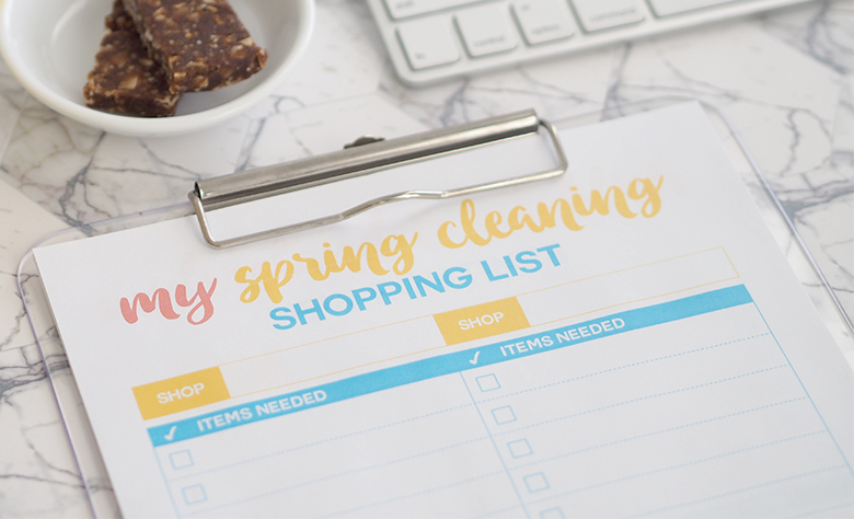 My Spring Cleaning Shopping List Free Printable