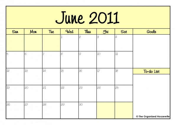 2011 calendar printable by month. Here is June 2011 Calendar