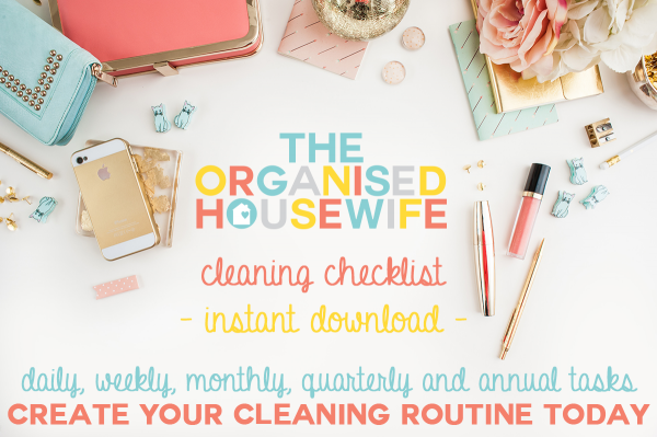The Organised Housewife Cleaning Checklist FB