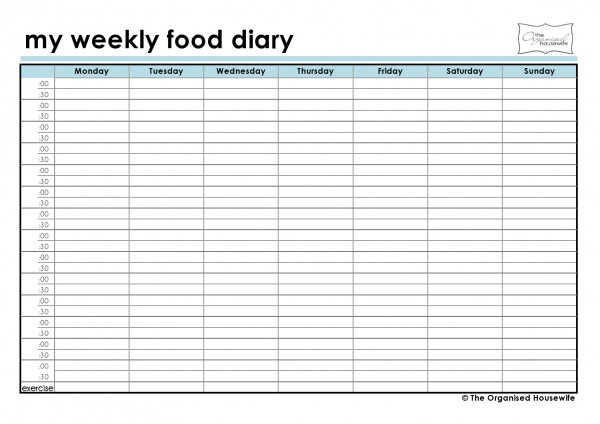 Pin Download Free Food Log Daily Food Log Printable Food Log Food Log ...