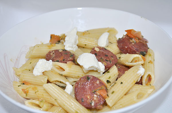 Easy Pasta Dinner Fast simple chorizo