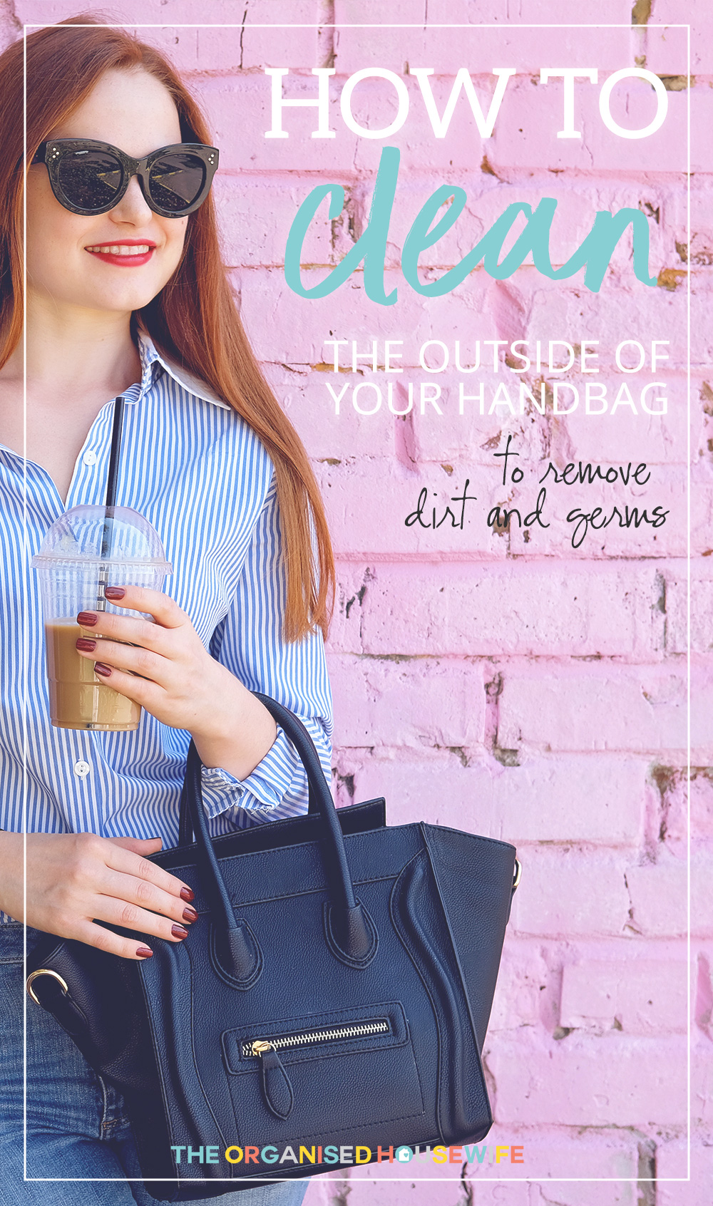 Handbags can capture so much dirt and germs, it's a good idea to regularly clean it with this gentle cleaning solution.
