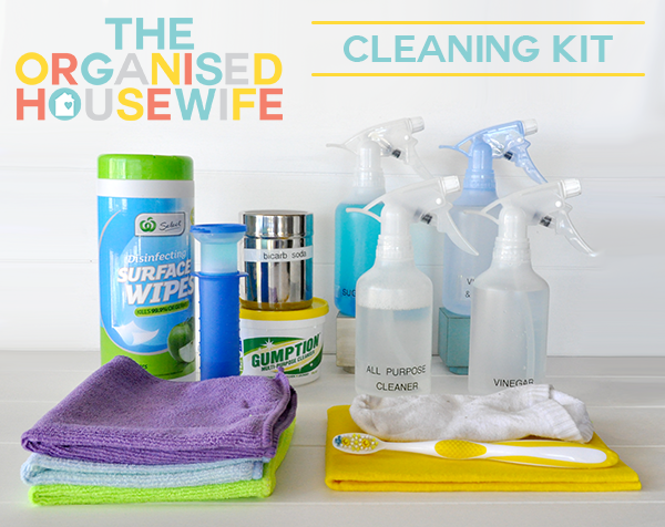 {The Organised Housewife} Cleaning Kit