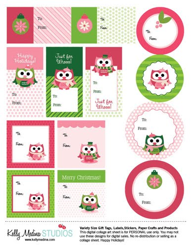 graphic relating to Free Christmas Tag Printable identified as 16 Free of charge Printable Xmas Tags - The Organised Housewife