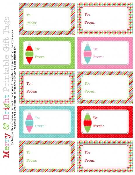 photograph relating to Printable Cardstock Tags known as 16 Free of charge Printable Xmas Tags - The Organised Housewife