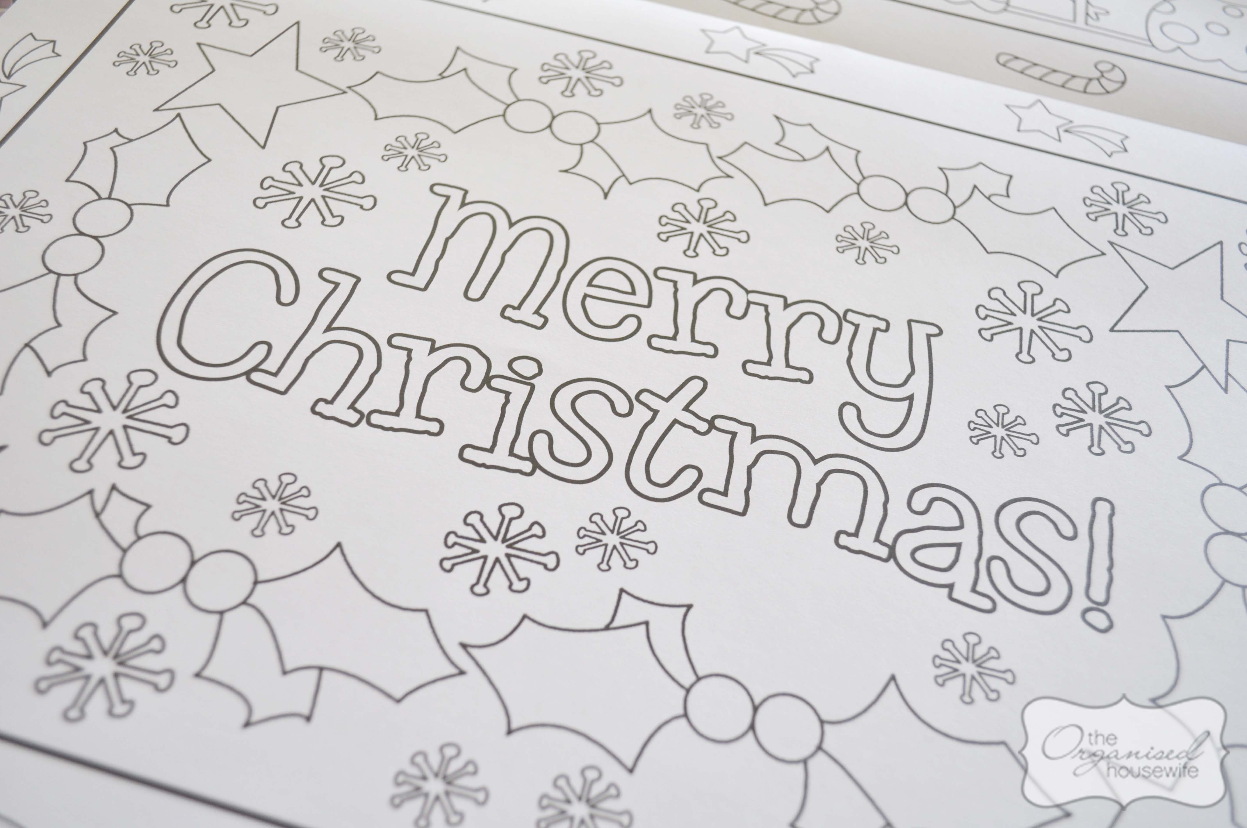 Christmas Craft Christmas Placemat The Organised Housewife