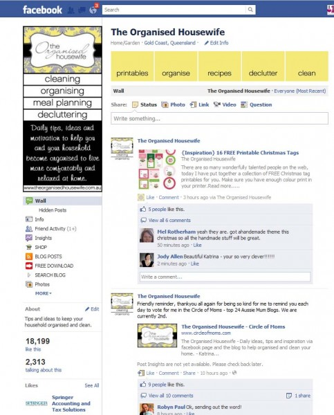 A guide to have your favourite Facebook Page showing up in