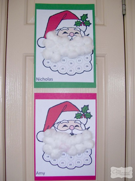 Christmas Craft Santa S Beard Advent Calendar The Organised Housewife