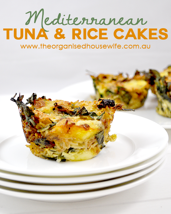 {Mediterranean Tuna and Rice Cakes