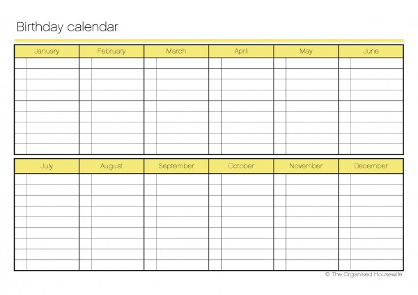 birthday list template by month hola klonec co