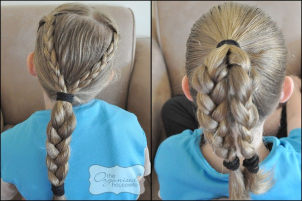 girls school hair style idea