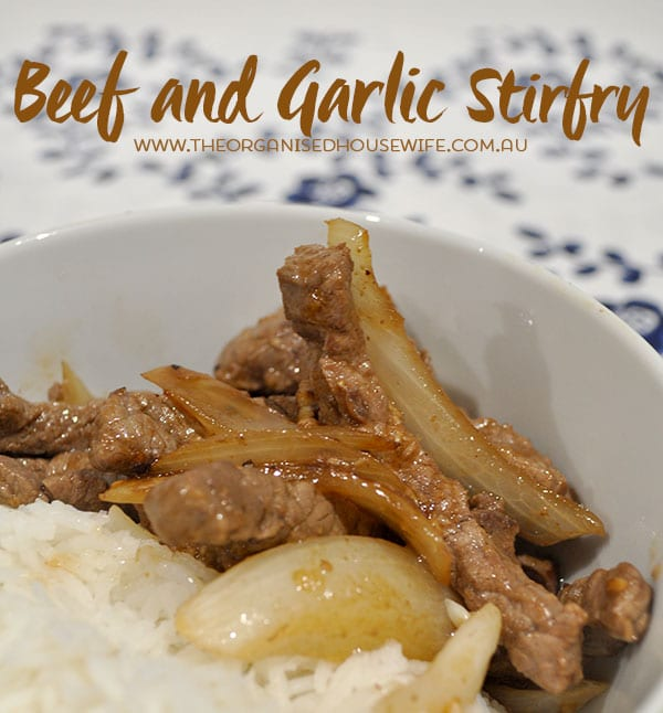 Beef-and-Garlic-Stirfry-Recipe-Easy-weeknight-dinner weekly meal plan