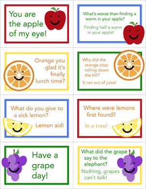Send your child to school with a little fun accompanying the nutrition in her lunch box. Include a short note with a fun fact each day. Use this note to connect with your child while she's away from you during the day and to add a little humor or knowledge to her lunch routine.