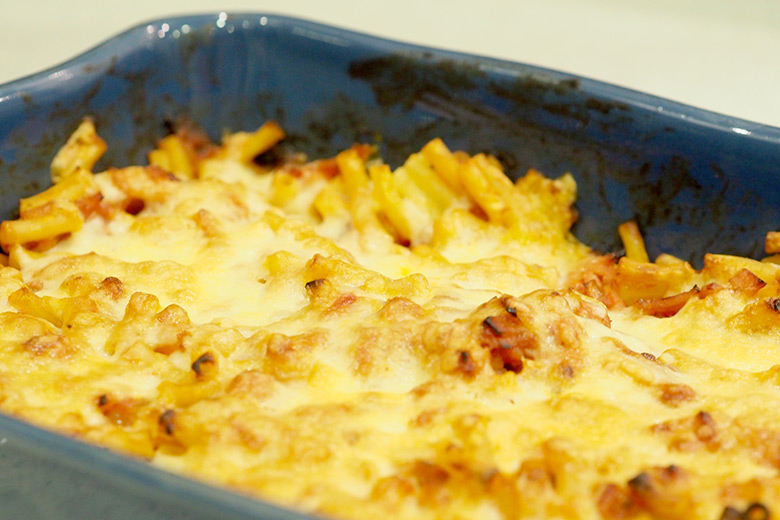 This Bacon Pasta Bake is a quick and reasonably light meal idea.