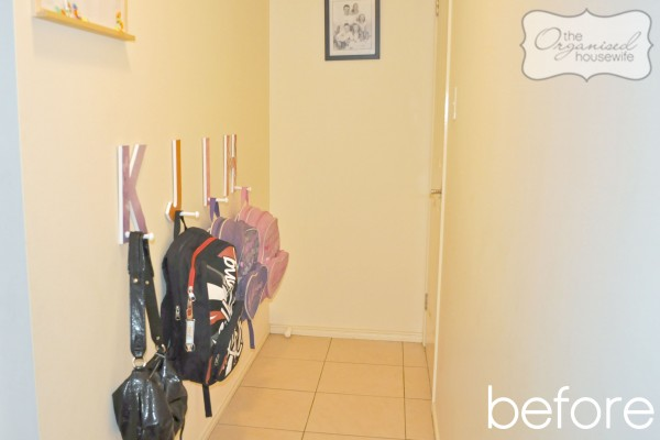Loyalty Rewards Program >> Our revamped and very organised school bag nook - The Organised Housewife