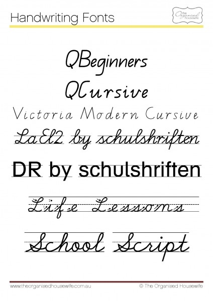 Help to write in cursive