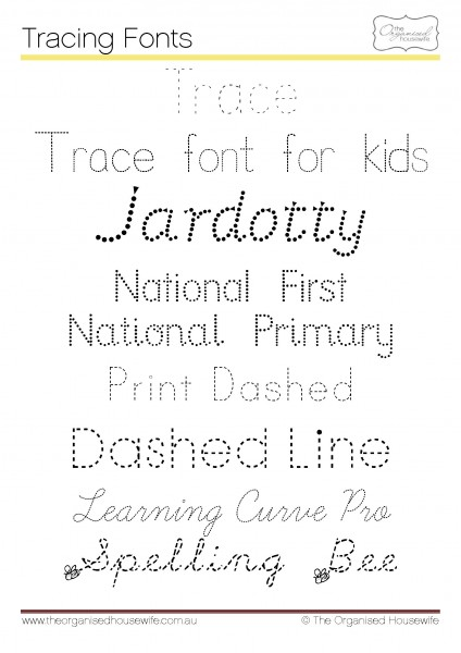 Fonts to help kids to write + Qld Cursive – The Organised Housewife