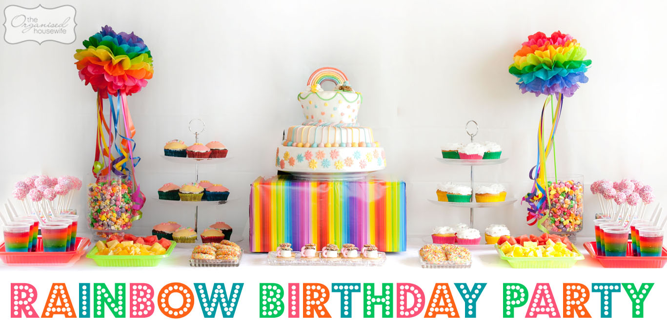 The Twins Parties} 2 parties in 1 day – Part 3: The Rainbow Birthday ...