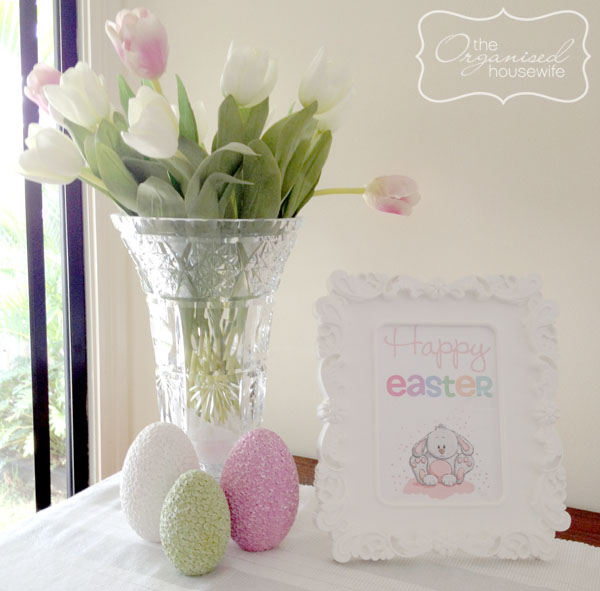 Fit Crafty Stylish And Happy Guest Bathroom Makeover: Decorating For Easter + A Cute Easter Printable