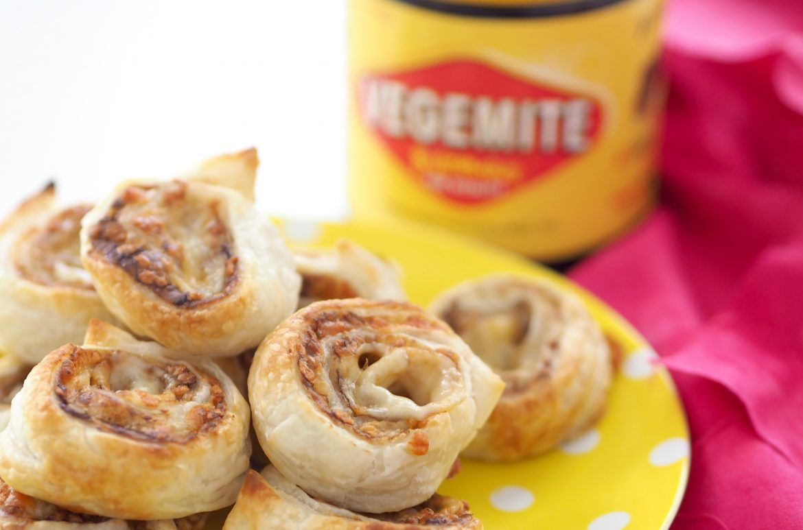 Cheese and Vegemite scrolls perfect for Australia Day
