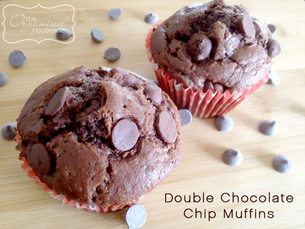 Double Chocolate chip muffins – The Organised Housewife