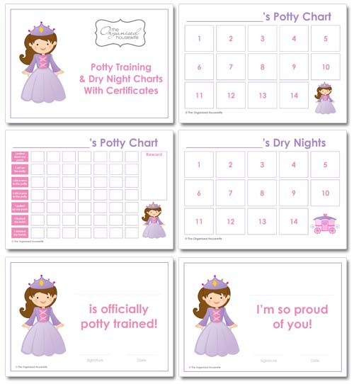 Potty Training Tips  Potty Training Charts  The Organised Housewife