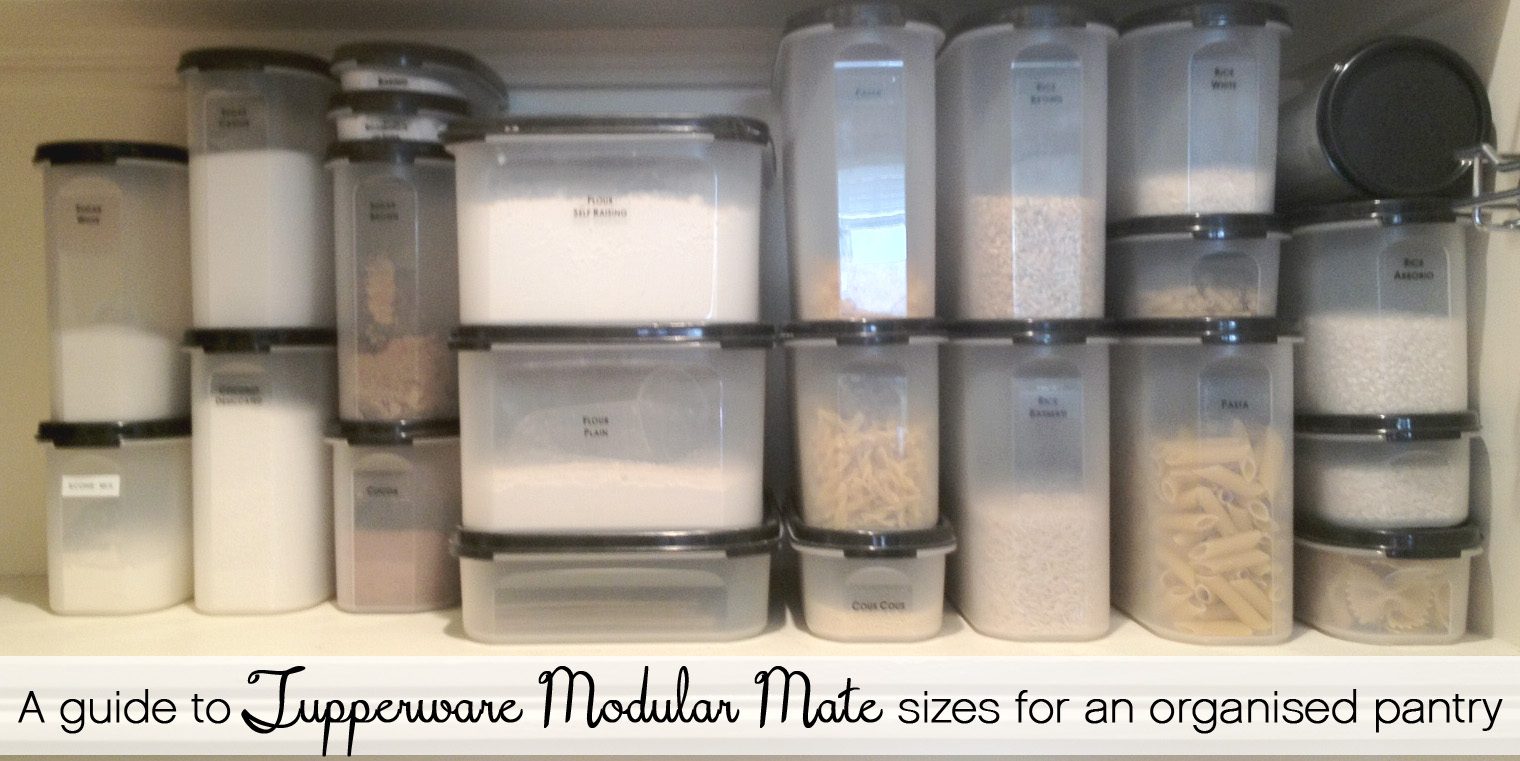 A Guide To Sizes Of Tupperware Modular Mate Containers For The Pantry The Organised Housewife