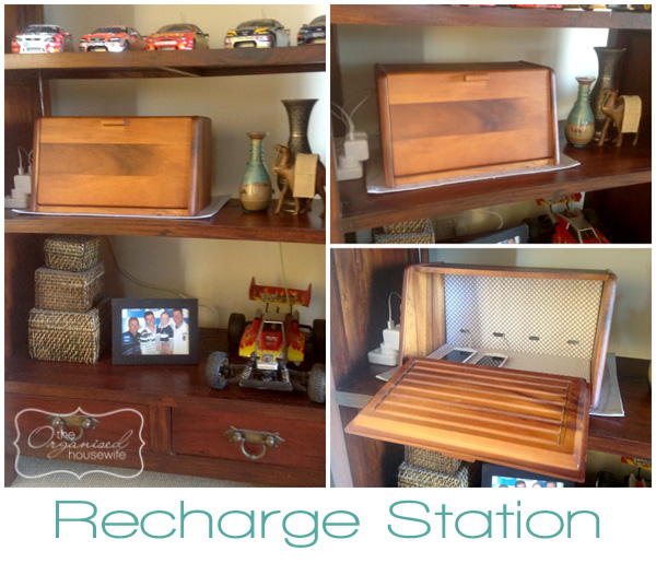 A Bread Box Turned Phone Charging Station The Organised