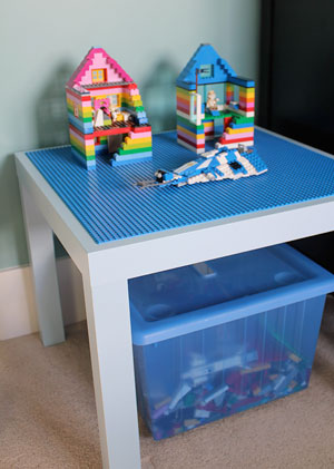 More lego storage ideas the organised housewife for Ikea lack lego table