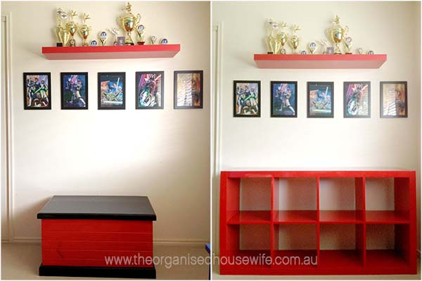 Lego storage and organising ideas for a boys bedroom the for Display bedroom ideas