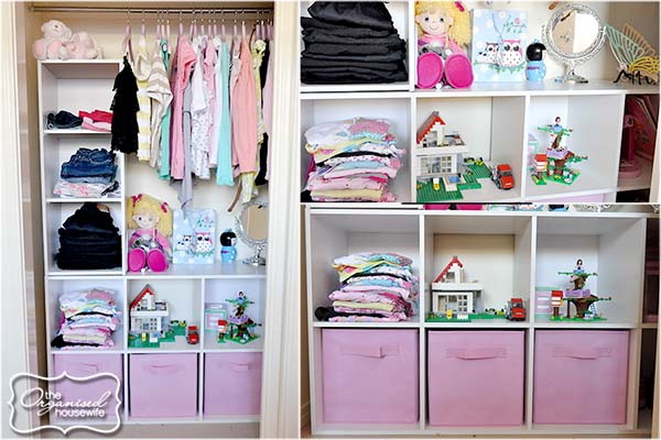 {The Organised Housewife} Girls Bedroom Wardrobe Organise 3