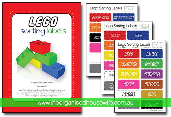 {The Organised Housewife} Labels for Organising and sorting Lego Pack