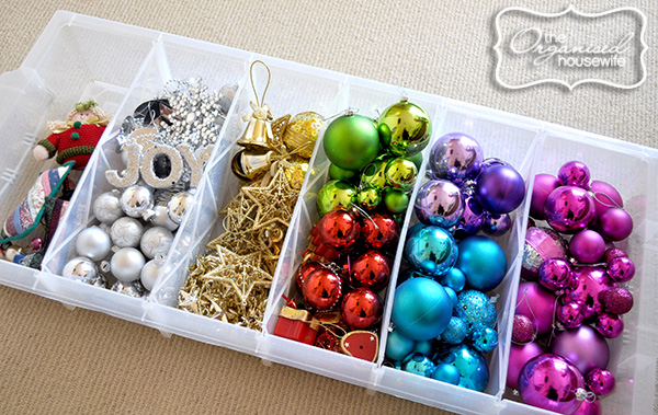 Or Sort Store Ornaments By Colour In Bags