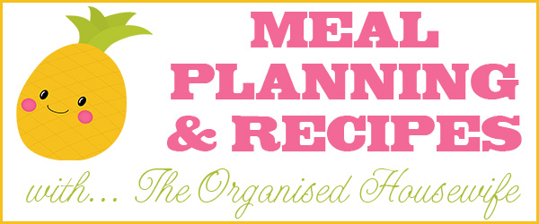{The Organised Housewife} Meal Planning Header with Pineapple