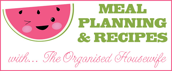 {The Organised Housewife} Meal Planning Header with Watermelons