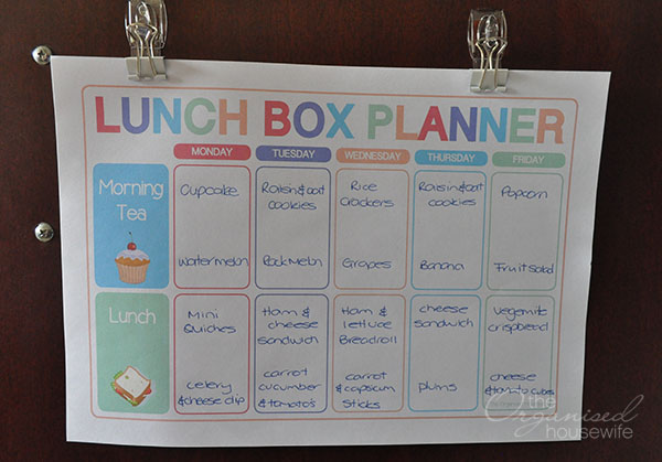 how to meal plan  u2013 the organised housewife