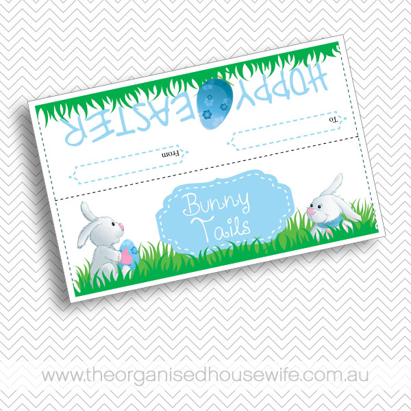 Printable bunny tail bag topper great easter gift idea the available in shop for 295 print as many as you need negle Images