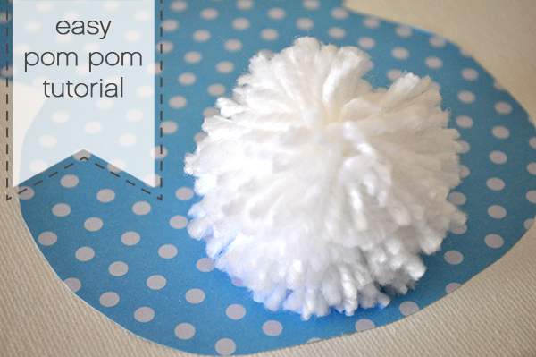 {The Organised Housewife} Super Easy Pom Pom Tutorial