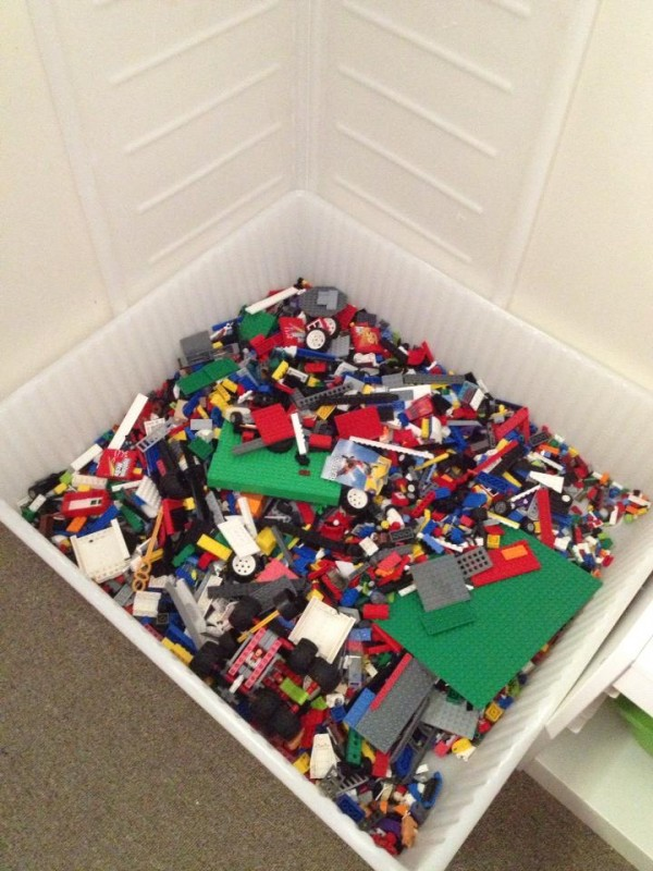 Shared by Debb S u2013 using the Ikea Dilling container (which fits perfectly under beds) & 40+ Awesome Lego Storage Ideas - The Organised Housewife