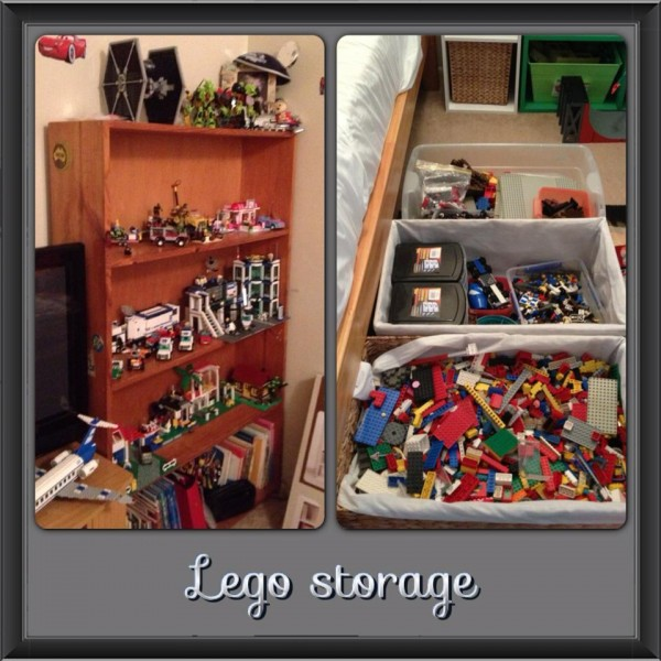 Shared by Cindy V u2013 Under the bed storage & 40+ Awesome Lego Storage Ideas - The Organised Housewife